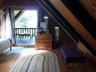 Bedroom view onto veranda