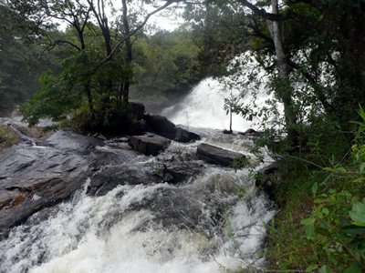Raging river in Bvumba