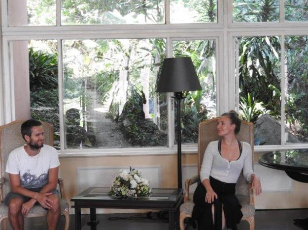 Danish Visitors at Leopard Rock Reception Area