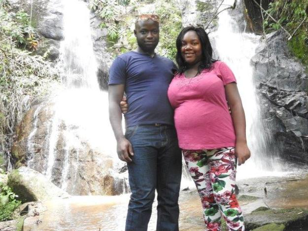 Visitors at Chinamata waterfall